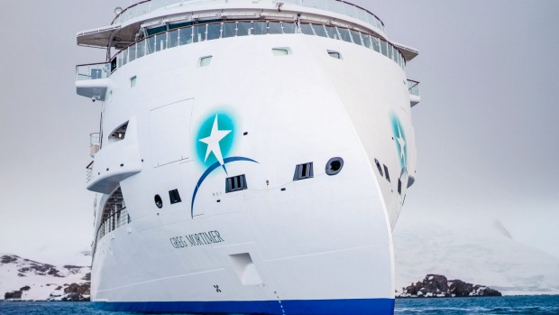 Supplied PR image for Traveller. Greg Mortimer cruise ship inaugural cruise from Ushuaia, Argentina to Antarctica. ...