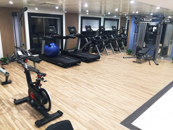 The on board gym.