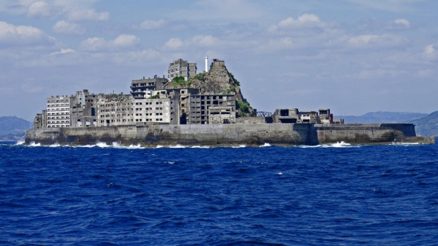 Hashima Island/Gunkanjima, Japan. This tiny island was once home to an undersea coal mine and was permanently inhabited ...
