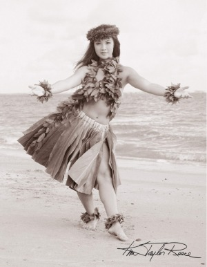 Kim Taylor Reece has exhibited his photographs of hula dancers around the world.
