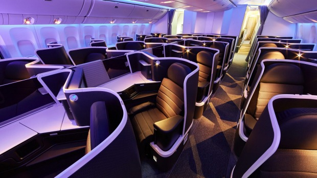 Business class on board a Virgin Australia Boeing 777. The airline's boss Jayne Hrdlicka's says business travel will not ...