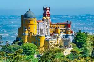 Extravagant Pena Palace in Sintra, Portugal.