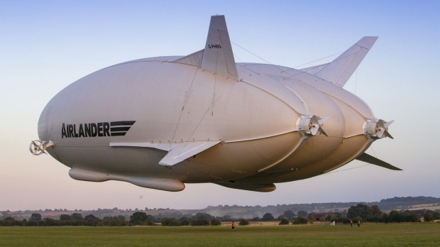 The Airlander 10, AKA 'the flying bum'.