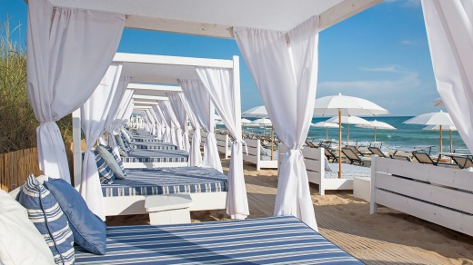 The beach club at Masseria Torre Coccaro, Italy.
