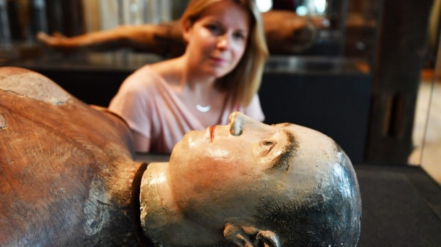 The Funeral effigy of Queen Mary I.