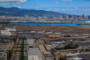 Daniel K. Inouye International Airport HNL, also known as Honolulu International Airport.