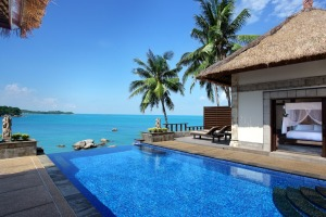 Ocean-views from Banyan Tree Bintan all-villa resort.