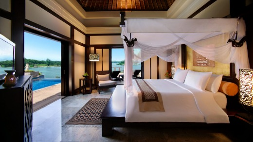 One of the villas at Banyan Tree Bintan.