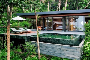 Ocean pool villa suite at Krabey Six Senses.