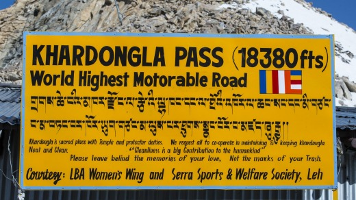 Khardung La Pass claims to be the world's highest motorable road.