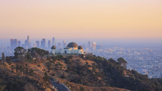 Striking views from Mount Hollywood, LA.