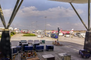 Kempegowda International Airport in Bangalore, India.