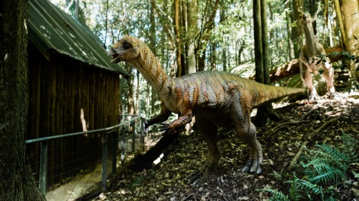 The Jurassic Park-type landscape will soon feature animatronic dinosaurs.