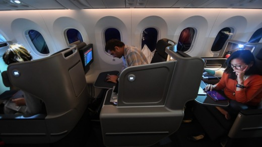 All passengers during the test flight were in business class seats.