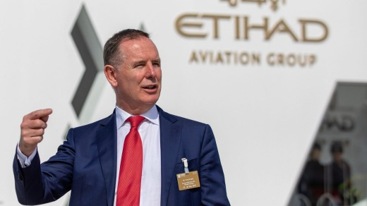 "Tony Douglas, chief executive officer of Etihad Airways, Douglas said the aircraft ""not only makes sense economically ..."