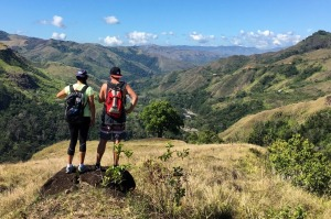 Talanoa Treks works in partnership with the villages to run the hikes, taking us across the highlands' unmarked tracks.