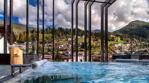 The spa at Gardena Grodnerhof Hotel & Spa is glorious.