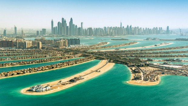 Dubai's Palm Jumeirah, one of the places where property sales are booming.