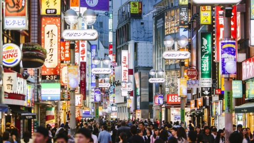 Japan is continuing to see huge growth in the number of Australians visiting, quickly catching up to Thailand.