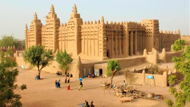 The Great Mosque at Djenne in Mali - near Timbuktu. Mali is one of the most dangerous countries in the world right now.