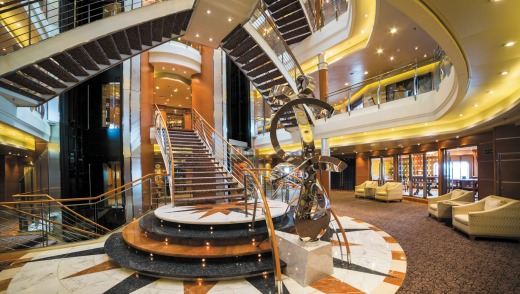Inside the Regent Seven Seas Voyager.