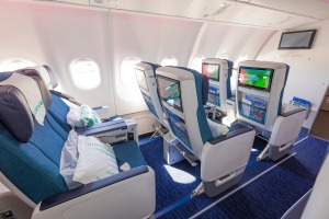 New Airbus A330neo aircraft and premium economy cabins.