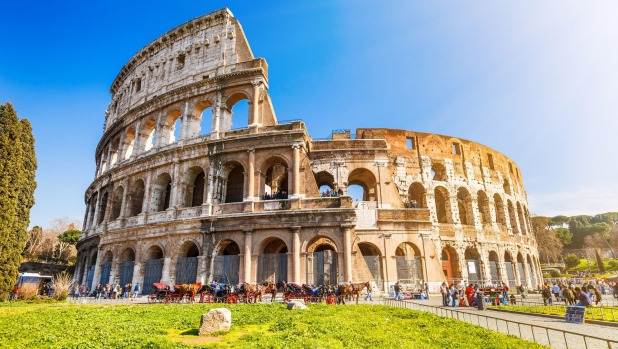 See the mighty Colosseum of Rome.