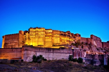 "MEHRANGARH FORT, JODHPUR: Set on a hilltop at the navel of Rajasthan's ""Blue City"" Mehrangarh is one of the most ..."