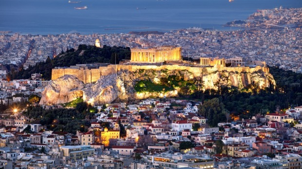 Athens skyline panorama with Acropolis in Greece from peak Lycabettus at night The world's top 10 places that are better ...