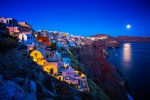 SANTORINI, GREECE: On the island home of legendary Atlantis, the sugar-cube houses that cling to the brink of this ...