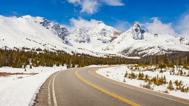 'Fair' conditions on the Icefields Parkway.