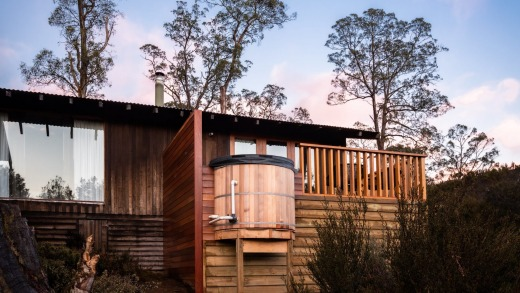 The luxurious Peppers Cradle Mountain Lodge.