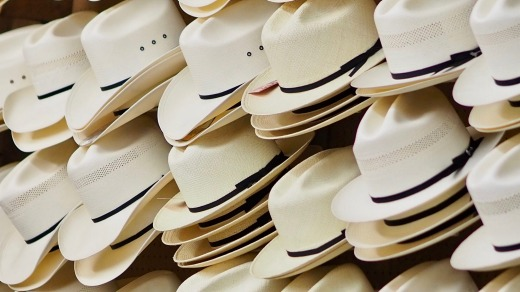 Hats on display at Paris Hatters, San Antonio.