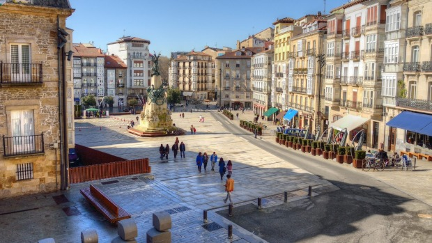 Plaza de la Virgen Blanca in Vitoria-Gasteiz, Spain.