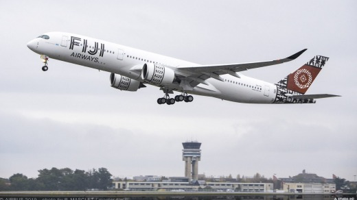 Fiji Airways first A350-900 XWB.