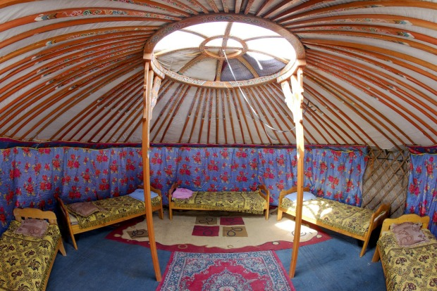 SLEEP IN A GER  Mongolian nomads have lived in portable, round tents called gers – known as yurts in neighbouring ...