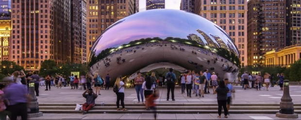 Chicago's Cloud Gate, also known as 'The Bean'.