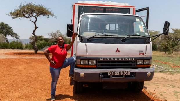 Becky, the first female overland truck driver in East Africa - and reluctant celebrity.