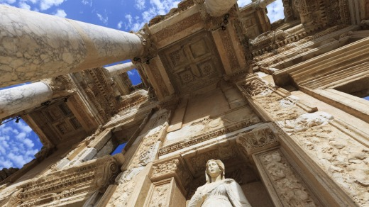 The Library of Celsus, built in AD 135.