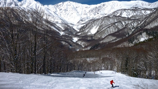Nagano hunkers at the base of the Japanese Alps at the centre of abundant ski fields such as Hakuba (pictured).