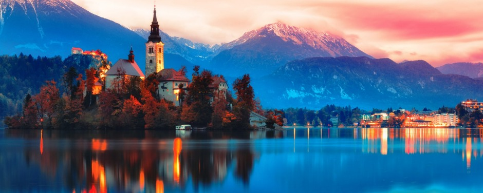 Bled lake in Slovenia. Slovenia is a modest and vastly underrated country surrounded on all sides by nations that are not.