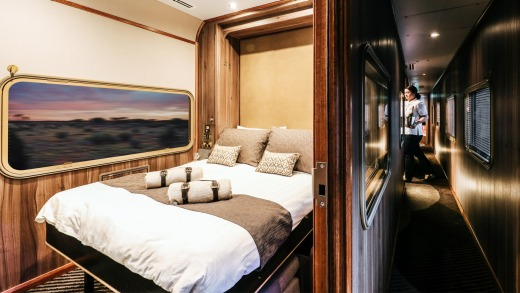 A cabin onboard Great Southern.
