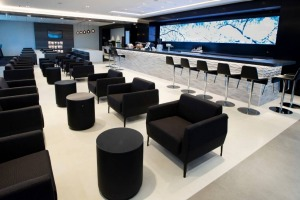 Air New Zealand's domestic lounge at Auckland Airport.
