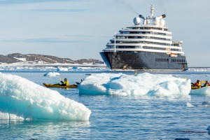 Passengers on board the Scenic Eclipse in Antarctica receive daily updates on the coronavirus.