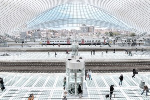 Liege Central Train Station by architect Santiago Calatrava, Belgium taken in October 2013 Liege Train Station iStock ...