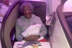 Violet Allison was just getting settled into her economy seat on an overnight Virgin Atlantic flight from New York to ...