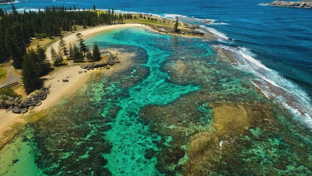 A reef on Norfolk Island.