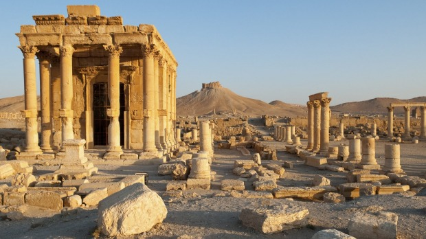 Just about every ancient attraction in Syria has sustained damage. Palmyra, shown here before the war, have been devastated.