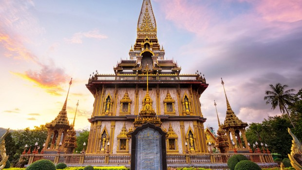 Wat Chalong temple in Phuket.