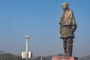 The 182-metre Statue of Unity is the world's tallest statue.
